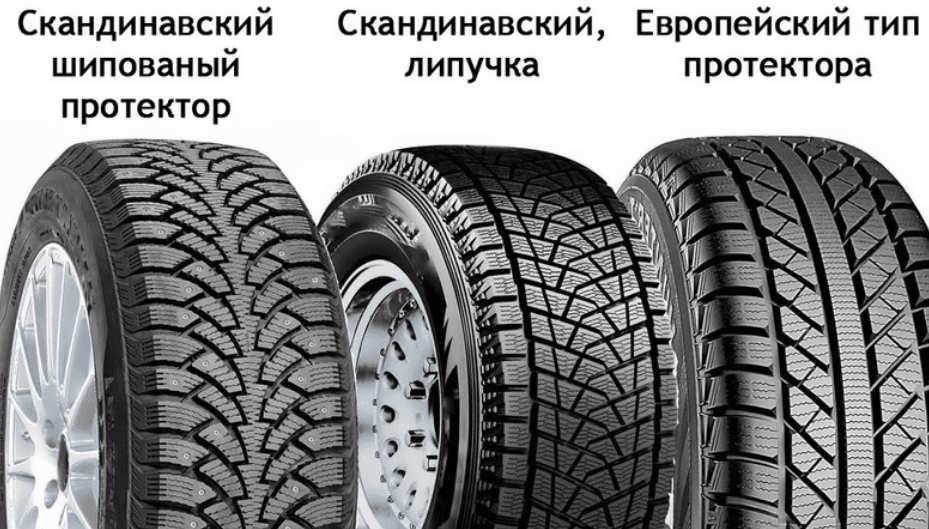 Типы зимних шин