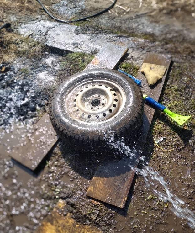 Мытье колес